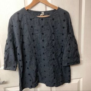Studio 412 of Maine eyelet floral blouse top M